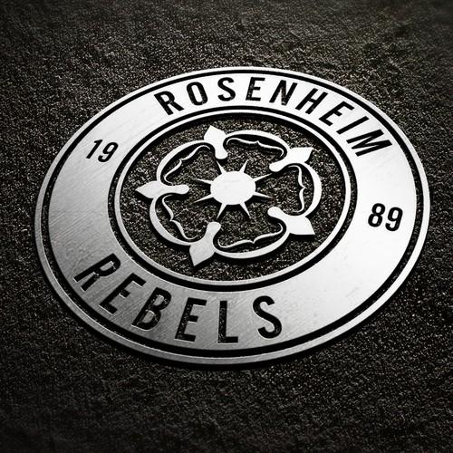 American football logo with the title 'Rosenheim Rebels'