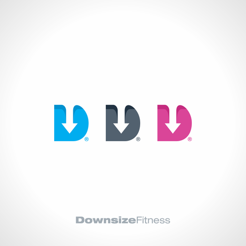 D design with the title 'Downsize Fitness'