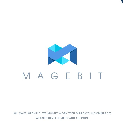 Stationery logo with the title 'Magebit IT company'