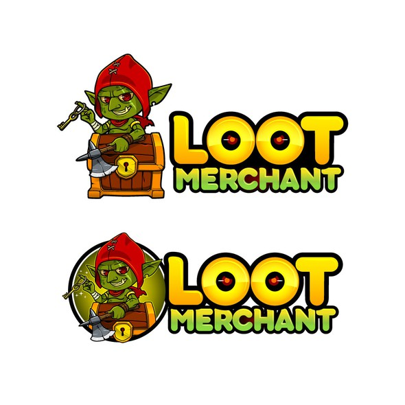 Chibi logo with the title 'Logo for Loot merchant '