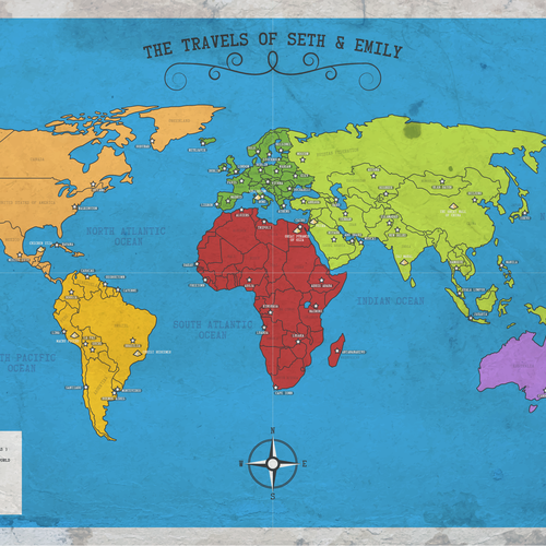 World artwork with the title 'Custom World map'