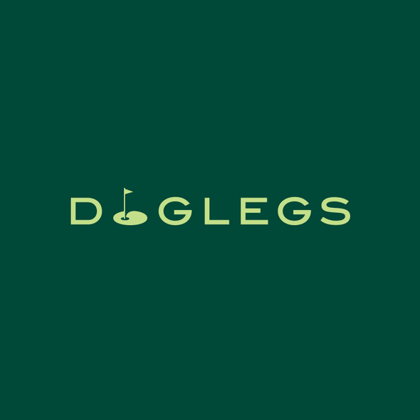 Golf ball design with the title 'DogLegs'