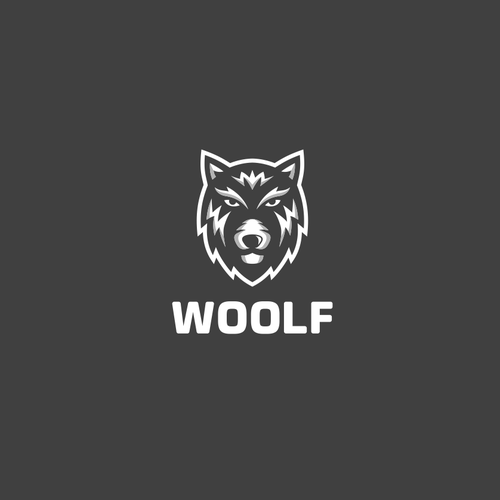 "Wolf design with the title 'Logo Designs for ""Woolf""'"