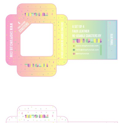 FUNCLUB Coaster Packaging Design