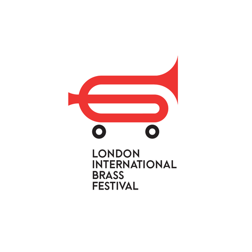 International design with the title 'Logo concept for London International Brass Festival'