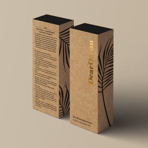 Glamorous design with the title 'Dear Ocean - wordmark and packaging design'