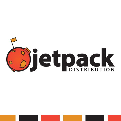 Flag brand with the title 'Jetpack Distribution Logo'