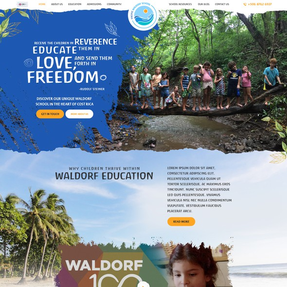 Natural design with the title 'Pacific Waldorf School'