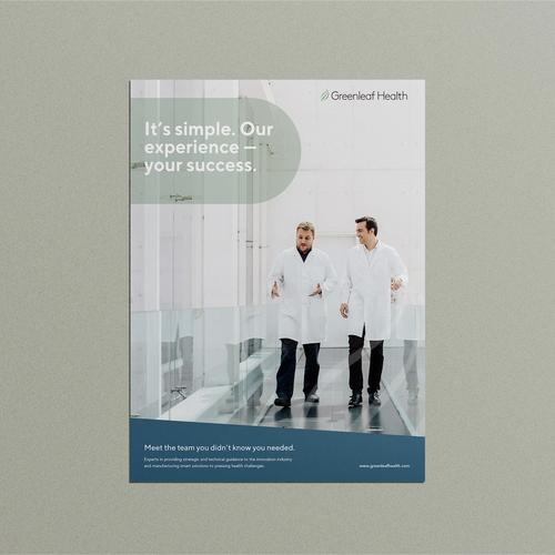 Print ad design with the title 'Bold Ad for a Scientific Consultant.'