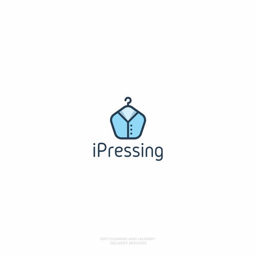 Clothing logo with the title 'Logo design for iPressing'