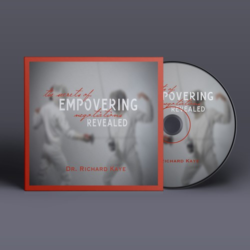 CD packaging with the title 'CD Cover Design for negotiation program'