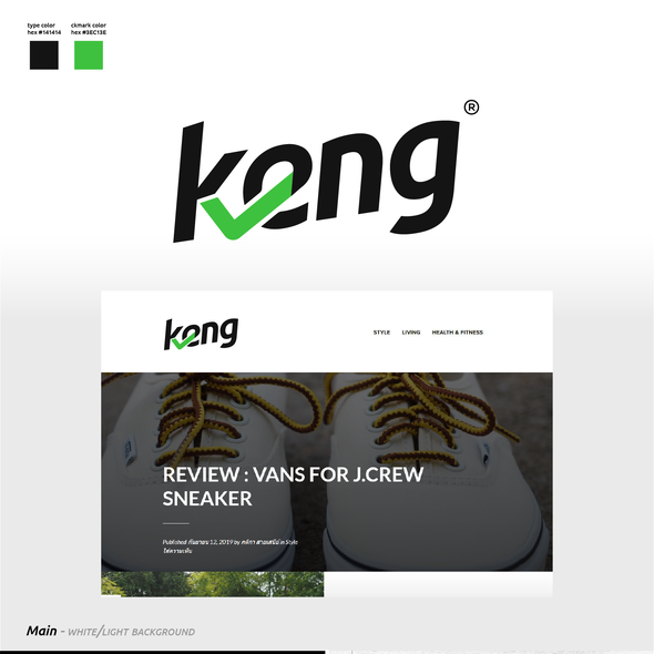 Product design with the title 'Logo Design for Keng.com / Reviews Blog'