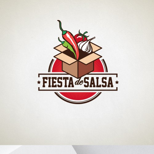 Salsa logo with the title 'design for Fiesta de Salsa'