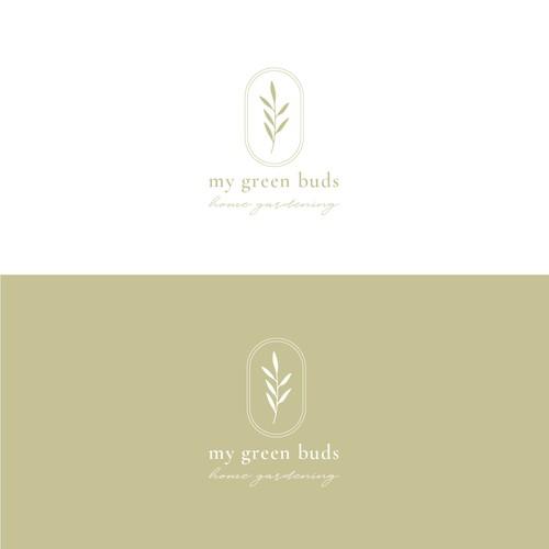 Garden logo with the title 'Home gardening logo'