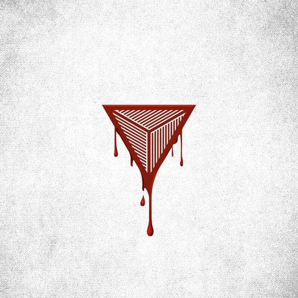 Sunburst logo with the title 'Logo design for BleedTrinity'