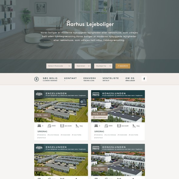 Layout website with the title 'Web Design for Real Estate Giant'