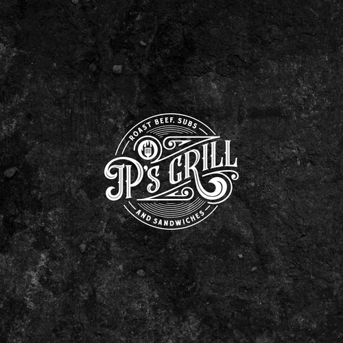 Angus logo with the title 'Vintage Logo JP's Grill'