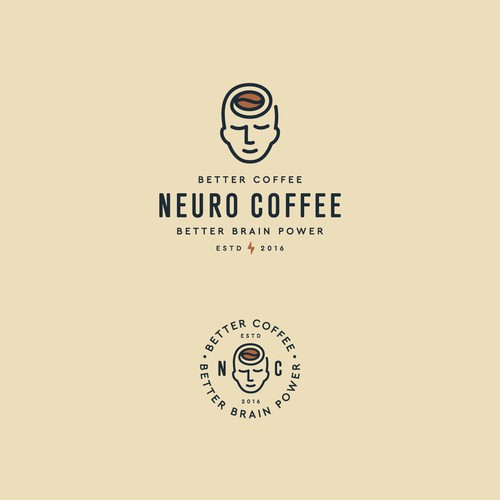 Shop design with the title 'Neuro Coffee'