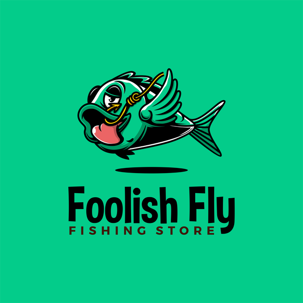 Fish logo with the title 'Foolish Fish for Foolish Fly'