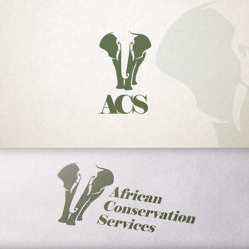 African animal logo with the title 'Logo Illustration'