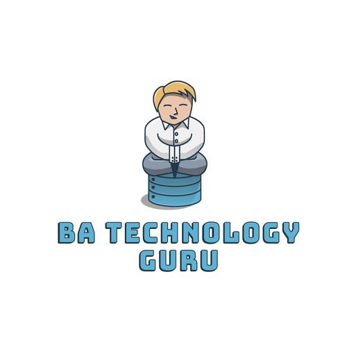 Database logo with the title 'Logo for BA TECHNOLOGY GURU'