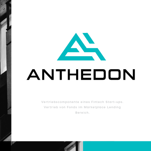 Letter A logo with the title 'Anthedon'