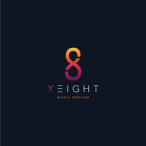 Festival logo with the title 'X-Eight logo for Club Music Festival Logo'