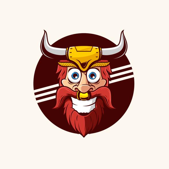 Steak logo with the title 'Fun Beef Jerky Logo'