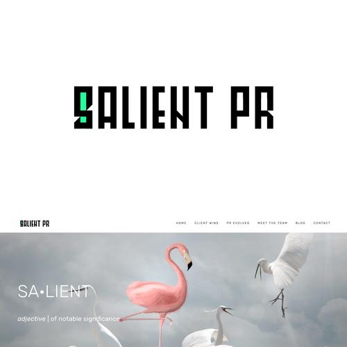 PR design with the title 'Logo concept for a PR '