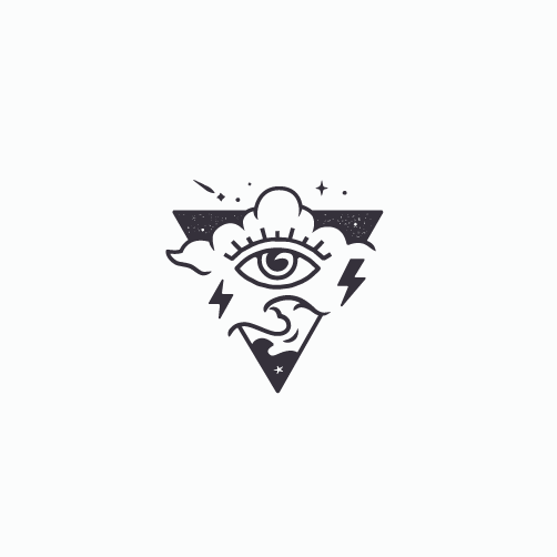 Thunder logo with the title 'A modern take on classic tattoo'