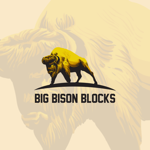 Illustrated logo with the title 'bison'