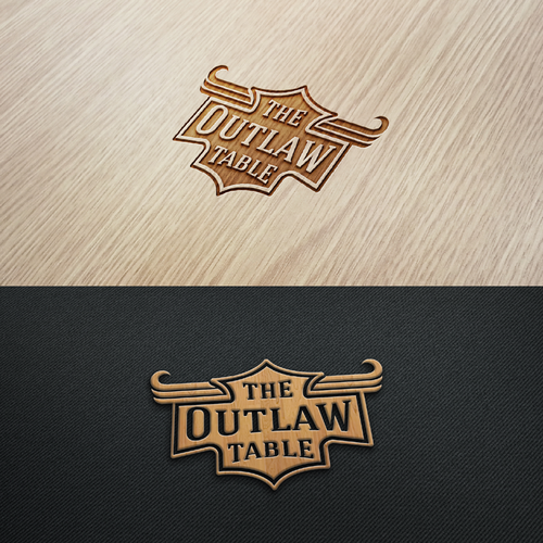 Tablet logo with the title 'vintage logo design - home decor table trays'