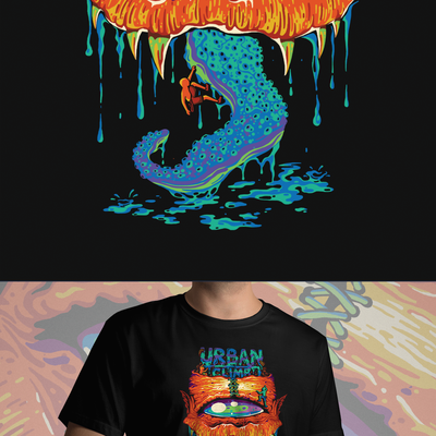 T-shirt design for Urban Climb