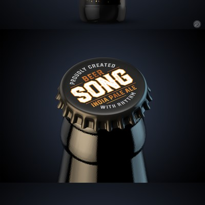 Song beer label design