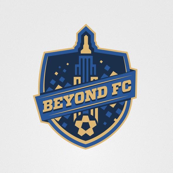 Gotham City logo with the title 'Football Logo'