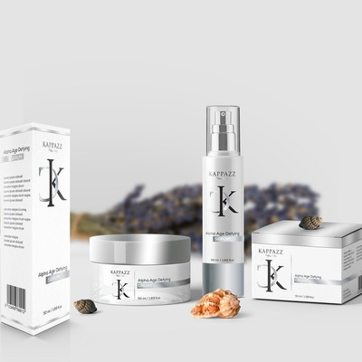 Cosmetics label and packaging concept