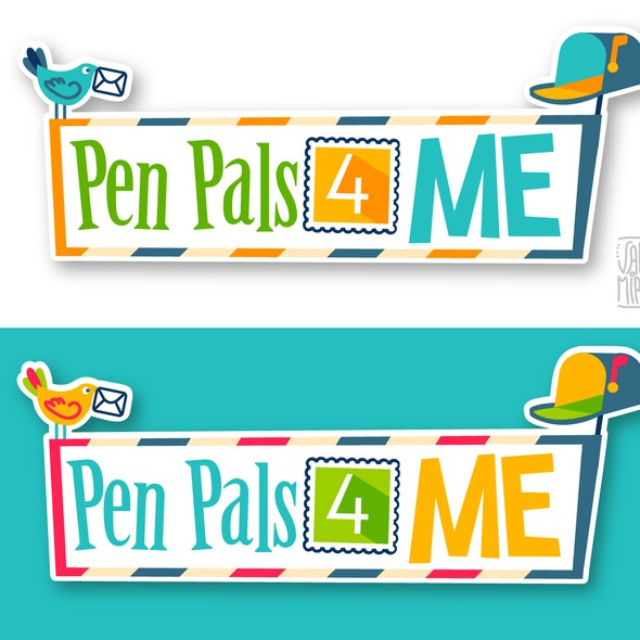 Post logo with the title 'Logo for Kids Writing Service - Fun & Cool !'