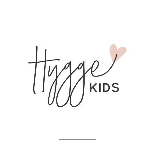Script logo with the title 'Hygge Kids webshop: Eye-catching logo'