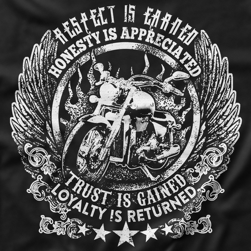 Quote t-shirt with the title 'Motorbike with Quote Shirt'