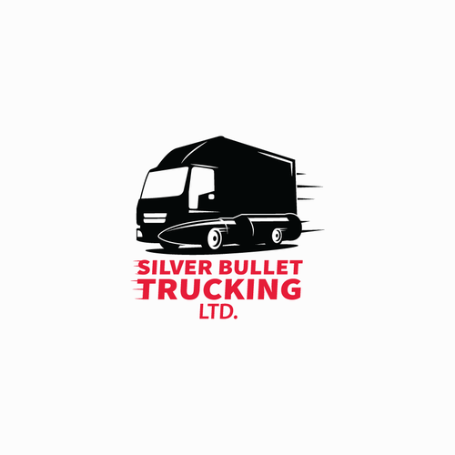 Trucking design with the title 'New Business Logo for small transport trucking company.   Will be seen across western Canada'
