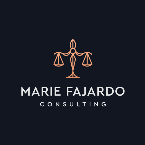 Justice logo with the title 'Marie Fajardo'