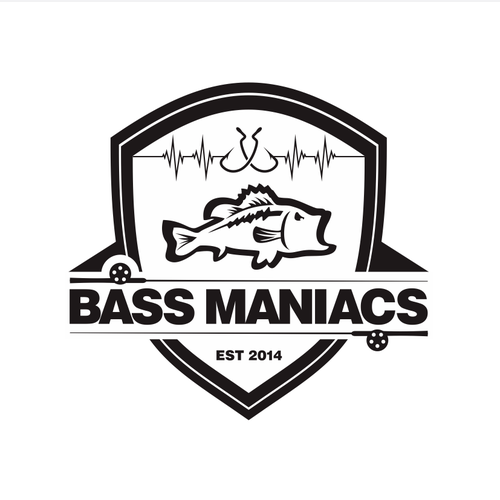 Sticker and decal logo with the title 'Bass Maniacs Logo'