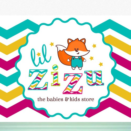 Baby brand with the title 'Brand Identity for Babies & Kids Store'