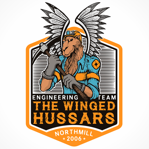 Engineering logo with the title 'A strange logo for our tech team'
