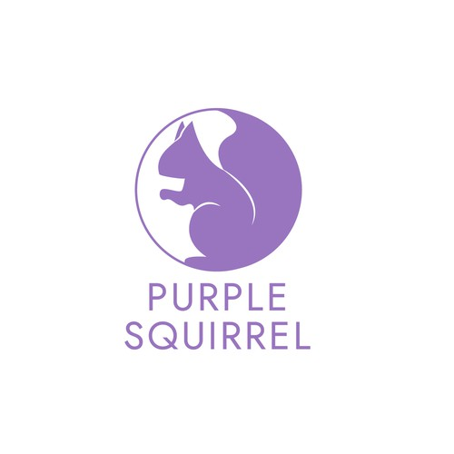 Circle design with the title 'Purple Squirrel Logo'
