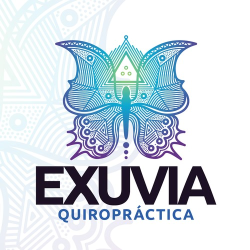 Chiropractic logo with the title 'Equilibrium and wings.'