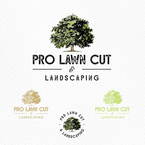 Austin logo with the title 'Logo for landscaping company'