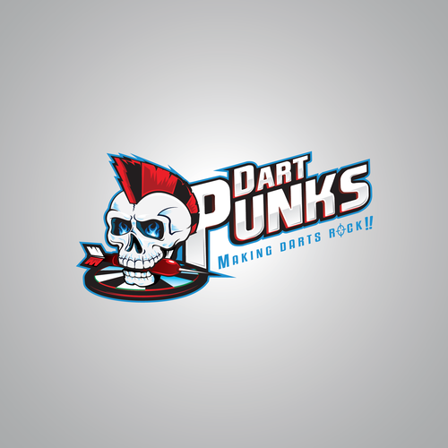 Punk logo with the title 'Illustrated Logo concept'