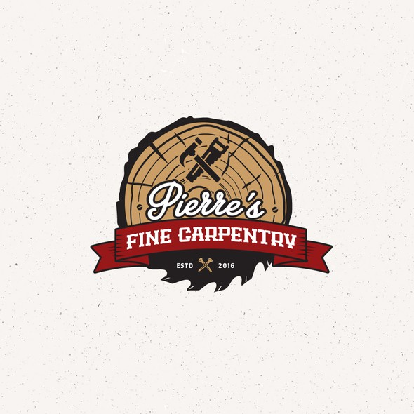 Carpentry design with the title 'vintage logo'