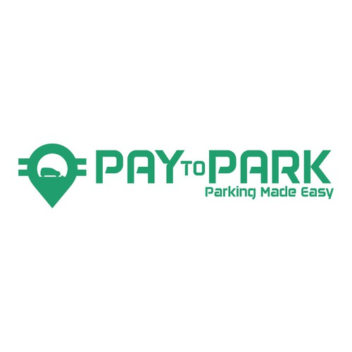 Parking logo with the title 'Parking App Logo'